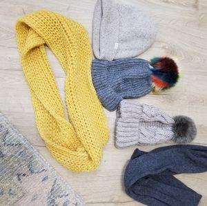 Zara hm madewell beanies boggins hat scarves winte